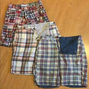 Bundle 3 pairs MEN size 32 plaid SHORTS